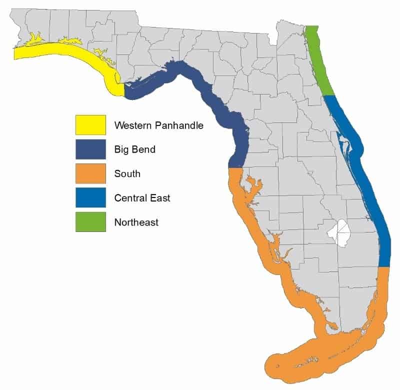 Florida Fishing Zones