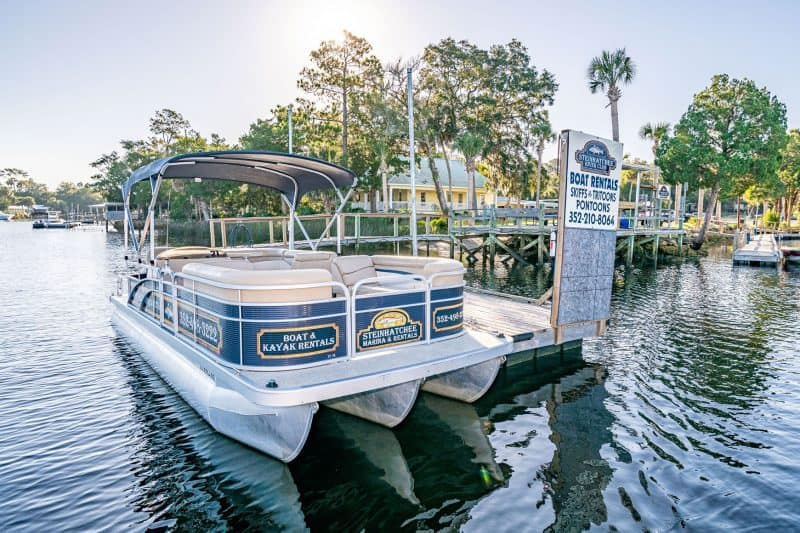 Boat docked at Steinhatchee River Club